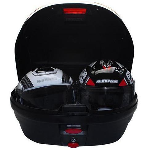 Imagem de Bauleto Bau Mixs 52 Litros Universal Moto Preto 2 capacetes