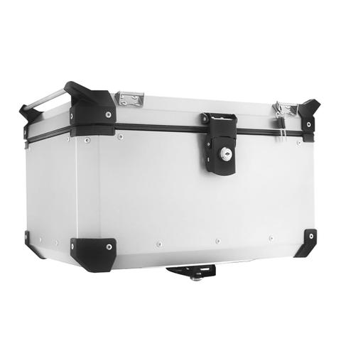 Imagem de Bauleto Traseiro Para Moto 48L Alumínio Escovado Super Adventure Roncar