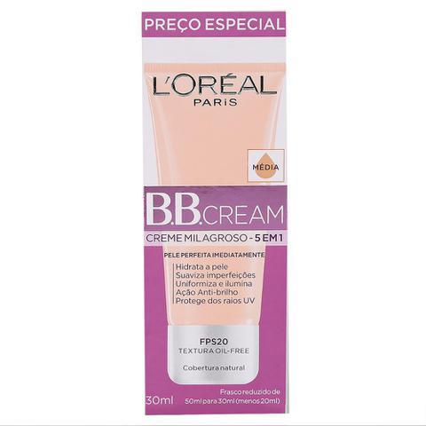 Imagem de BB Cream LOréal Paris cor Média FPS 20 30ml