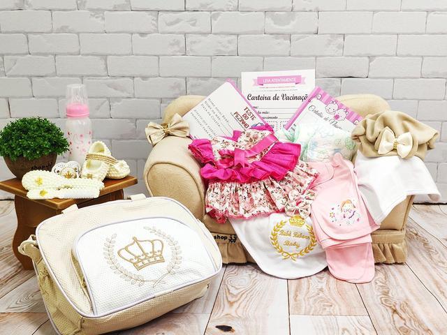 Imagem de Bebê Reborn 21 Itens Princesa Boneca Senta Silicone Bolsa