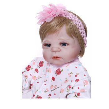 Imagem de Bebê Reborn de Silicone Original NPK com Olhos Azuis Certificado INMETRO