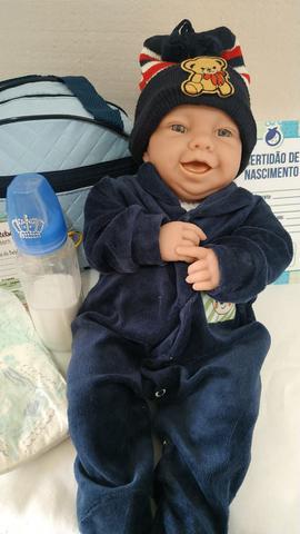 Imagem de Bebê Reborn Menino Real 45cm 1,5kg Enxoval Acessórios