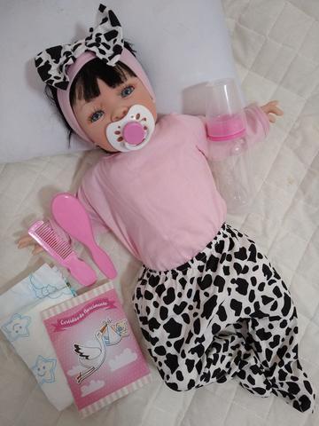 Imagem de Bebê Reborn Real Brinquedo Menina Surpresa Rosa