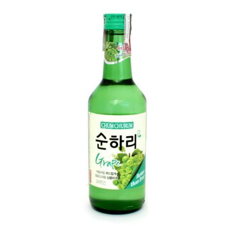 Imagem de Bebida coreana soju chum churum sabor grape uva 360ml lotte