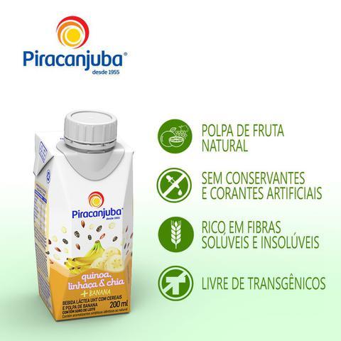 Imagem de Bebida Láctea Piracanjuba Quinoa, Linhaça e Chia Sabor Banana 200ml