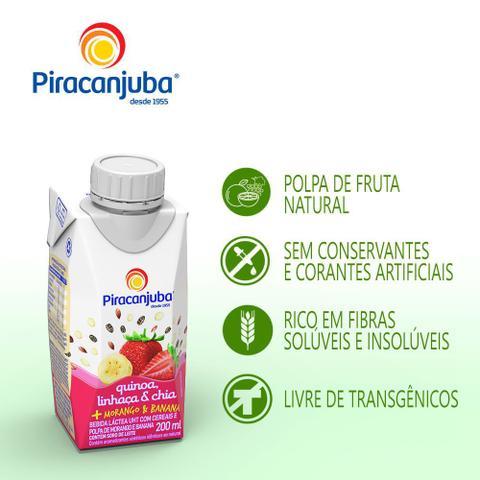 Imagem de Bebida Láctea Piracanjuba Quinoa, Linhaça e Chia Sabor Morango e Banana 200ml