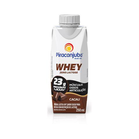 Imagem de Bebida Láctea Piracanjuba Whey 0 Lactose Cacau 250ml