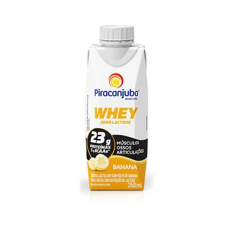 Imagem de Bebida Láctea Piracanjuba Whey 0 Lactose Polpa Banana 250ml