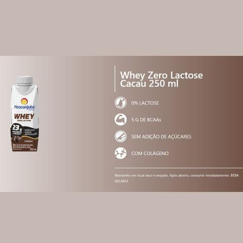 Imagem de Bebida Láctea Whey Zero Lactose Piracanjuba Cacau 250 ml - Kit 04 Unidades