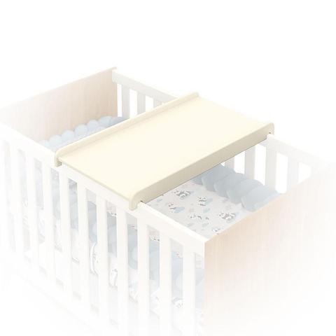Imagem de Berço Americano com Trocador Colchão e Cômoda Gaveteiro Retro Gold Freijó Off White Eco Wood  Matic