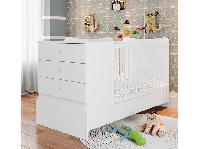 Imagem de Berço Cama com Comoda Americano Fofura Branco - Art In Móveis