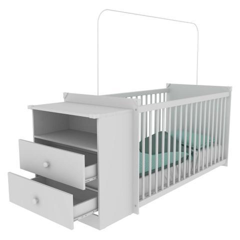 Imagem de Berço Grade Fixa 3 Níveis de Altura Multimóveis - Meu Bebê 2870.010