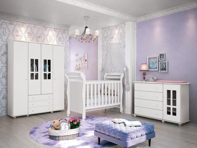 Imagem de Berço Juliana Bebê Branco Fosco - Reller