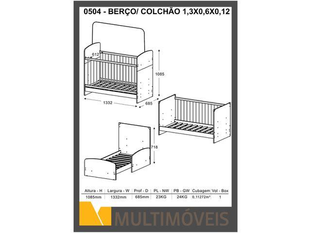 Imagem de Berço/Mini Cama 3 Níveis de Altura