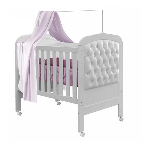 Imagem de Berço Mini Cama Allegra Capitone II Tigus Baby Material Sintético Branco