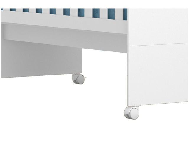 Imagem de Berço Mini Cama Americano Branco Brilho Grade Fixa