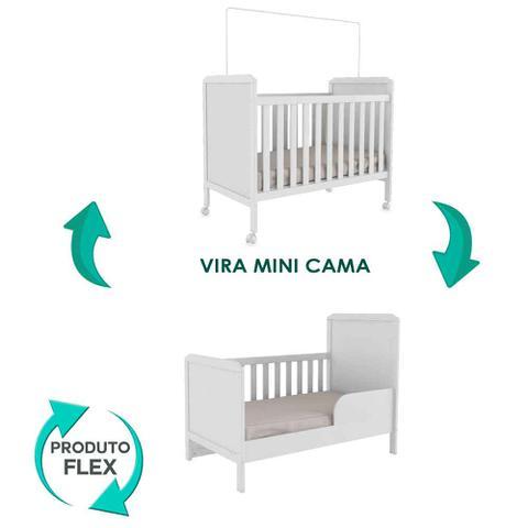 Berço Mini Cama Cloe Móveis Peroba Branco Brilho - Moveis peroba ... 3b59a389a5