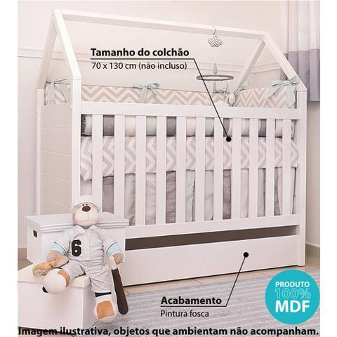 Imagem de Berço Mini Cama Montessoriana Casinha 100 MDF - Branco
