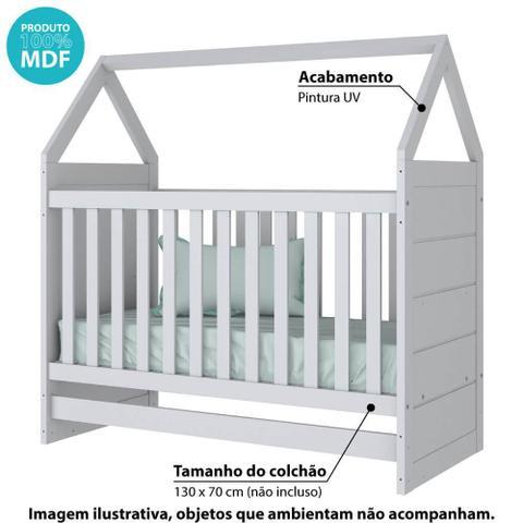 Imagem de Berço Mini Cama Montessoriano Estilo Casinha Americano Branco