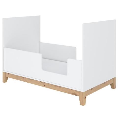Imagem de Berço Mini Cama Retro Branco Fosco/Mel - Divicar Móveis