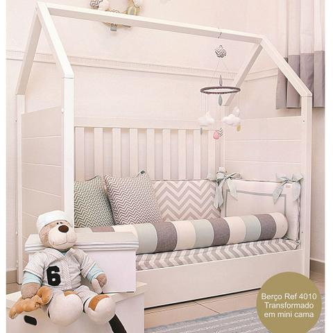 Imagem de Berço Montessori Quater Branco Fosco