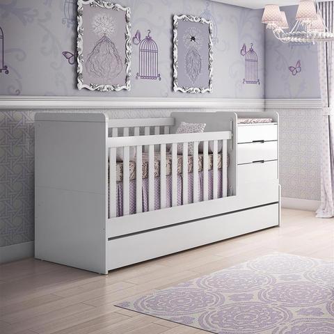 Imagem de Berço Multifuncional Cleo Branco Fosco Carolina Baby