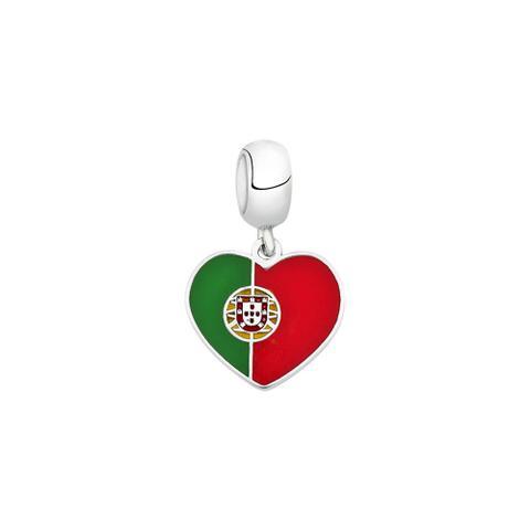 Imagem de Berloque Bandeira de Portugal de Prata Moments