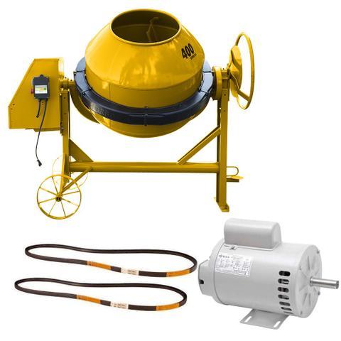 Imagem de Betoneira 400 litros Com Motor Monofásico e Chave Elétrica NR12 - RLL-400NR12