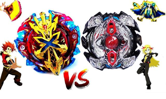 Imagem de Beyblade Burst Zillion Zeutron vs Xeno Xcalius Zac vs Xhaka