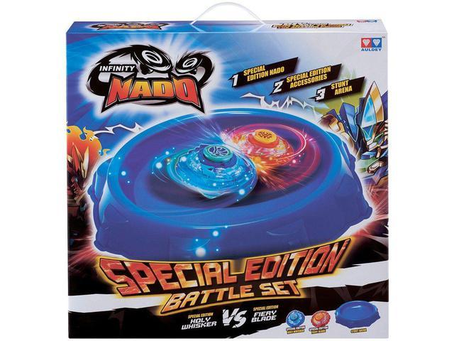 Imagem de Beyblade Candide Infinity Nado Battle Set - com Lançador com Acessórios