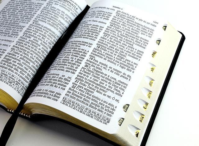 Imagem de Bíblia ACF Letra Gigante com Ref. - Luxo Preta