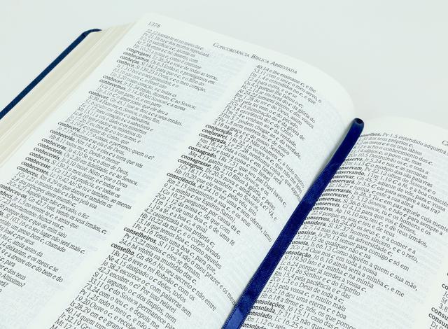 Imagem de Bíblia ACF - RCM (Referências, Concordância e Mapas) - Azul - Letra Gigante