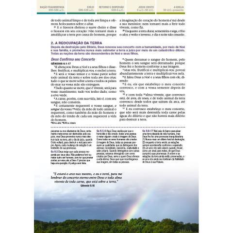 Imagem de Bíblia de Estudo Cronológica Aplicação Pessoal Tarja Verde