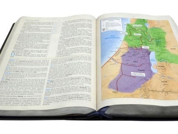 Imagem de Bíblia de Estudo Holman  King James Fiel 1611  Letra Grande  Luxo  Preta