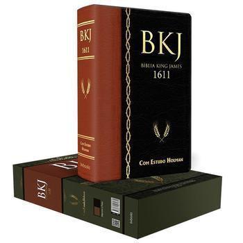 Imagem de Bíblia de Estudo Holman | King James Fiel 1611 | Letra Grande | Luxo | Preto/Marrom - Bv Books