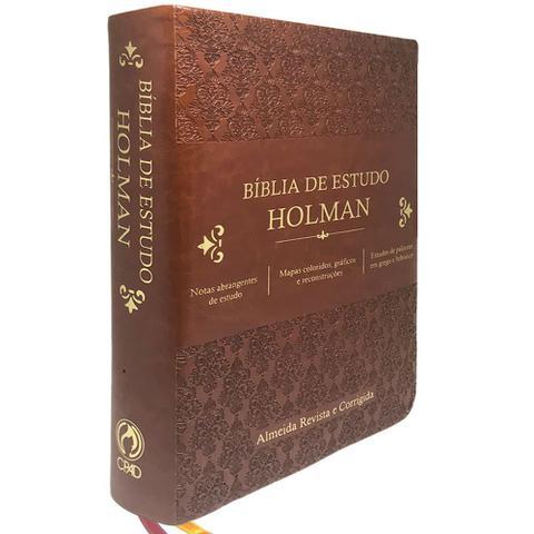 Imagem de Bíblia de Estudo Holman - Marrom