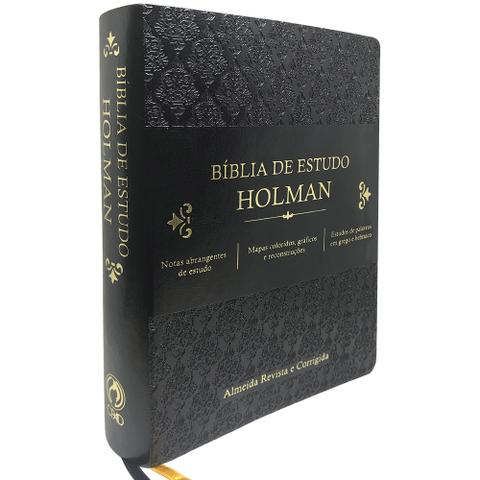 Imagem de Bíblia de Estudo Holman Preta