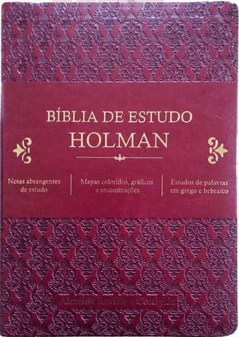 Imagem de Bíblia De Estudo Holman Vinho - Editora Cpad