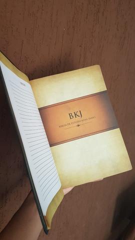Imagem de Bíblia king james 1611 com estudo holman capa luxo sintética marrom c preto letra grande bv books
