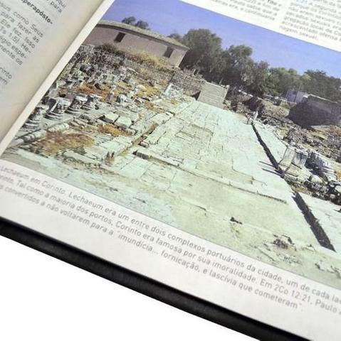 Imagem de Bíblia king james  estudo holman 1611  editora bv books  capa luxo preta