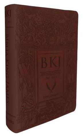 Imagem de Bíblia King James Fiel 1611 - Ultra Gigante - Capa Luxo Marrom