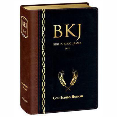 Imagem de Bíblia King James1611  Estudo Holman  Marrom/Preta