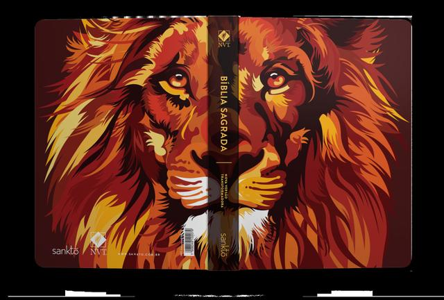 Imagem de Bíblia Lion Color Fire  NVT  Capa Dura