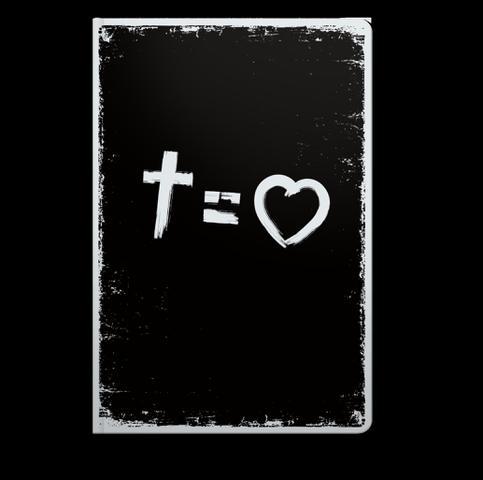 Imagem de Bíblia NVT 960 Cross Equals Love B&W - Letra Normal - Editora Sankto