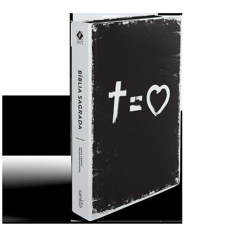 Imagem de Bíblia NVT 960 Cross Equals Love B&W - Letra Normal Nova Versão Transformadora