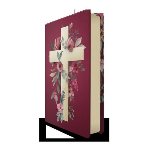 Imagem de Bíblia nvt 960 cruz flores - letra normal: nova versão transformadora