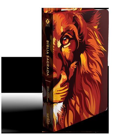 Imagem de Bíblia nvt 960 lion colors fire - letra normal: nova versão transformadora