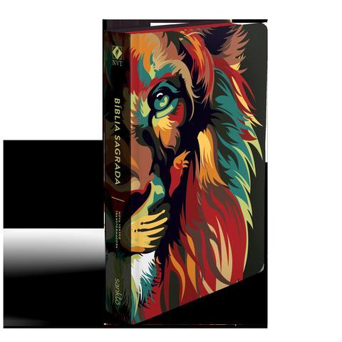 Imagem de Bíblia NVT 960 Lion Colors Nature - Letra Normal