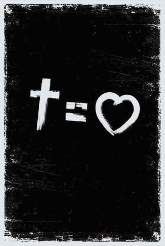 Imagem de Bíblia Nvt Cross Equals Love B&W Letra Grande