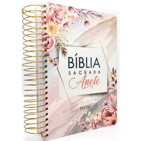 Imagem de Bíblia Sagrada Anote Flores Aquarela - NVI - Art Gospel